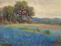Texas:Early Texas Art - Regionalists, ROLLA SIMS TAYLOR (American, 1872-1970). BluebonnetLandscape. Oil on canvas board. 12 x 16 inches (30.5 x 40.6cm). Sig...