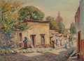 Texas:Early Texas Art - Regionalists, ROLLA SIMS TAYLOR (American, 1872-1970). San Miguel, 1957.Oil on canvas board. 12 x 16 inches (30.5 x 40.6 cm). Signed,...