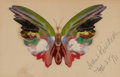 American, ALBERT BIERSTADT (American, 1830-1902). Butterfly, 1891. Oiland pencil on paper. 5 x 8 inches (12.7 x 20.3 cm) (paper)...