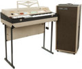 Musical Instruments:Keyboards & Pianos, 1966 Farfisa Compact Deluxe Grey Keyboard and Amplifier Set, Serial #s A158/444 and A184/351. ...
