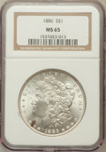 Morgan Dollars: , 1886 $1 MS65 NGC. NGC Census: (20300/5753). PCGS Population(14347/2772). Mintage: 19,963,886. Numismedia Wsl. Price for pr...