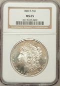 Morgan Dollars: , 1880-S $1 MS65 NGC. NGC Census: (31612/14406). PCGS Population(32733/11600). Mintage: 8,900,000. Numismedia Wsl. Price for...
