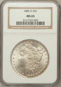 Morgan Dollars: , 1885-O $1 MS65 NGC. NGC Census: (26108/4876). PCGS Population(17526/2440). Mintage: 9,185,000. Numismedia Wsl. Price for p...