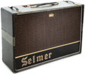 Musical Instruments:Amplifiers, PA, & Effects, 1962 Selmer Zodiac Twin 30 Crocodile/Black Guitar Amplifier. ...