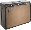 Musical Instruments:Amplifiers, PA, & Effects, 1965 Fender Twin Reverb Black Guitar Amplifier, Serial # A 02068....