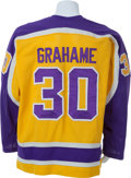Hockey Collectibles:Uniforms, 1980-81 Ron Grahame Game Worn Los Angeles Kings Jersey....