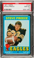 Football Cards:Singles (1970-Now), 1971 Topps Steve Preece #142 PSA Gem Mint 10 - Pop One! ...