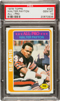 Football Cards:Singles (1970-Now), 1978 Topps Walter Payton #200 PSA Gem Mint 10....