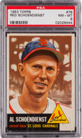 Baseball Cards:Singles (1950-1959), 1953 Topps Red Schoendienst #78 PSA NM-MT 8....
