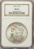 Morgan Dollars: , 1902-O $1 MS65 NGC. NGC Census: (6321/555). PCGS Population(4130/507). Mintage: 8,636,000. Numismedia Wsl. Price for probl...
