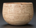 Pre-Columbian:Ceramics, A MAYA CREAMWARE BOWL WITH INCISED DECORATION. c. 600 - 800 AD...