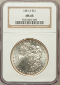 Morgan Dollars: , 1881-S $1 MS65 NGC. NGC Census: (49728/20149). PCGS Population(47750/13834). Mintage: 12,760,000. Numismedia Wsl. Price fo...