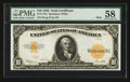 Large Size:Gold Certificates, Fr. 1173a $10 1922 Mule Gold Certificate PMG Choice About Unc 58.. ...