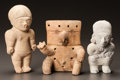 Pre-Columbian:Ceramics, TWO LA TOLITA FIGURES AND ONE QUIMBAYA FIGURE. c. 450 - 900 AD...(Total: 3 Items)