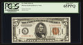 Small Size:World War II Emergency Notes, Fr. 2301 $5 1934 Hawaii Federal Reserve Note. PCGS Gem New 65PPQ.. ...