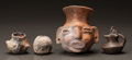 Pre-Columbian:Ceramics, FOUR MAYA MINIATURE FIGURATIVE VESSELS. c. 600 - 900 AD... (Total:4 Items)