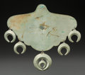 American Indian Art:Jewelry and Silverwork, A SOUTHERN PLAINS GERMAN SILVER PECTORAL. c. 1865...
