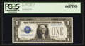 Small Size:Silver Certificates, Fr. 1603 $1 1928C Silver Certificate. PCGS Gem New 66PPQ.. ...
