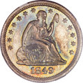 Proof Seated Quarters, 1849 25C PR66 NGC....