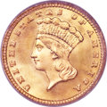 Gold Dollars, 1881 G$1 MS68 PCGS. CAC....