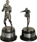Football Collectibles:Others, 1931-32 Joe Zeller University of Indiana Trophy - Lot of 2. ...