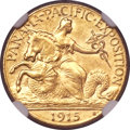 Commemorative Gold, 1915-S $2 1/2 Panama-Pacific Quarter Eagle MS63 NGC. CAC....