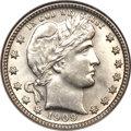 Barber Quarters, 1909-O 25C MS63 NGC....