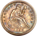 Seated Quarters, 1853 25C No Arrows MS63 NGC....