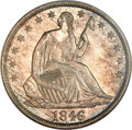 Seated Half Dollars, 1846 50C Tall Date MS64 NGC. CAC....