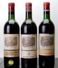 Red Bordeaux, Chateau Lafite Rothschild. Pauillac. 1957 htms, bsl, nc Bottle (1). 1962 htms, bsl, lcc, ssos Bottle (1). 1964... (Total: 3 Btls. )