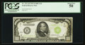 Small Size:Federal Reserve Notes, Fr. 2211-H $1000 1934 Light Green Seal Federal Reserve Note. PCGS About New 50.. ...