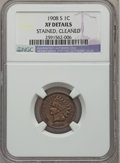 Indian Cents, 1908-S 1C -- Cleaned, Stained -- NGC Details. XF. NGC Census:(161/778). PCGS Population (273/854). Mintage: 1,115,000. Num...