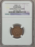 Indian Cents: , 1908-S 1C -- Improperly Cleaned -- NGC Details. VF. NGC Census:(100/1294). PCGS Population (183/1803). Mintage: 1,115,000....