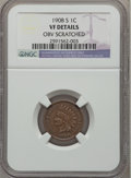 Indian Cents, 1908-S 1C -- Obverse Scratched -- NGC Details. VF. NGC Census:(100/1294). PCGS Population (183/1803). Mintage: 1,115,000. ...