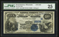 National Bank Notes:Wisconsin, Oconomowoc, WI - $10 1882 Value Back Fr. 577 The First NB Ch. # (M)5505. ...