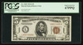 Small Size:World War II Emergency Notes, Fr. 2302 $5 1934A Hawaii Federal Reserve Note. PCGS Superb Gem New67PPQ.. ...