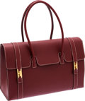 Luxury Accessories:Bags, Hermes 37cm Rouge H Chamonix Leather Drag Bag with Gold Hardware....