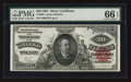 Large Size:Silver Certificates, Fr. 320 $20 1891 Silver Certificate PMG Gem Uncirculated 66 EPQ.....