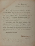 Autographs:Statesmen, Edwin M. Stanton Military Appointment Signed....