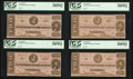 Confederate Notes:1863 Issues, T61 $2 1863 PF-8 Cr. 472. Four Examples. . ... (Total: 4 notes)