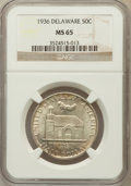 Commemorative Silver: , 1936 50C Delaware MS65 NGC. NGC Census: (1072/568). PCGS Population(1376/741). Mintage: 20,993. Numismedia Wsl. Price for ...