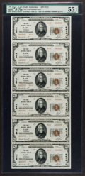 National Bank Notes:Colorado, Eads, CO - $20 1929 Ty. 2 The First NB Ch. # 8412 Uncut Sheet. ...