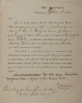Autographs:Military Figures, Edwin M. Stanton Military Appointment Signed...