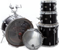 Musical Instruments:Drums & Percussion, 1980s Slingerland Black 5 Piece Drum Set. ...