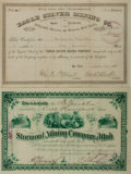 Miscellaneous:Ephemera, Group of Two Mining Stock Certificates... (Total: 2 Items)