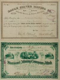 Group of Two Mining Stock Certificates