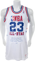 Basketball Collectibles:Uniforms, 1988 Michael Jordan Signed Commemorative All Star Jersey 35/88 -UDA. ...