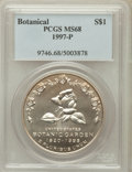 Modern Issues, 1997-P $1 Botanic Gardens Silver Dollar MS68 PCGS. PCGS Population(156/1648). NGC Census: (22/1161). Mintage: 58,505. Numi...