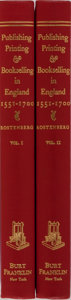 Books:Books about Books, [Books About Books]. Leona Rostenberg. Publishing, Printing & Bookselling in England, 1551-1700. Vol. I & II. Bu... (Total: 2 Items)