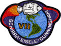 Explorers:Space Exploration, Apollo 7 Flown Embroidered Mission Insignia Patch Originally from the Personal Collection of Mission Lunar Module Pilot Walt C...